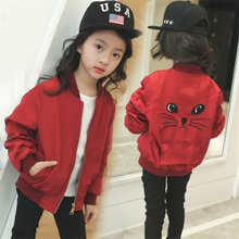 Net Red 2019 New Girls Jacket Cotton Spinning Spring And Autumn  Clothes Baby Childrens Clothes4 5 6-13 Years Girl Coat