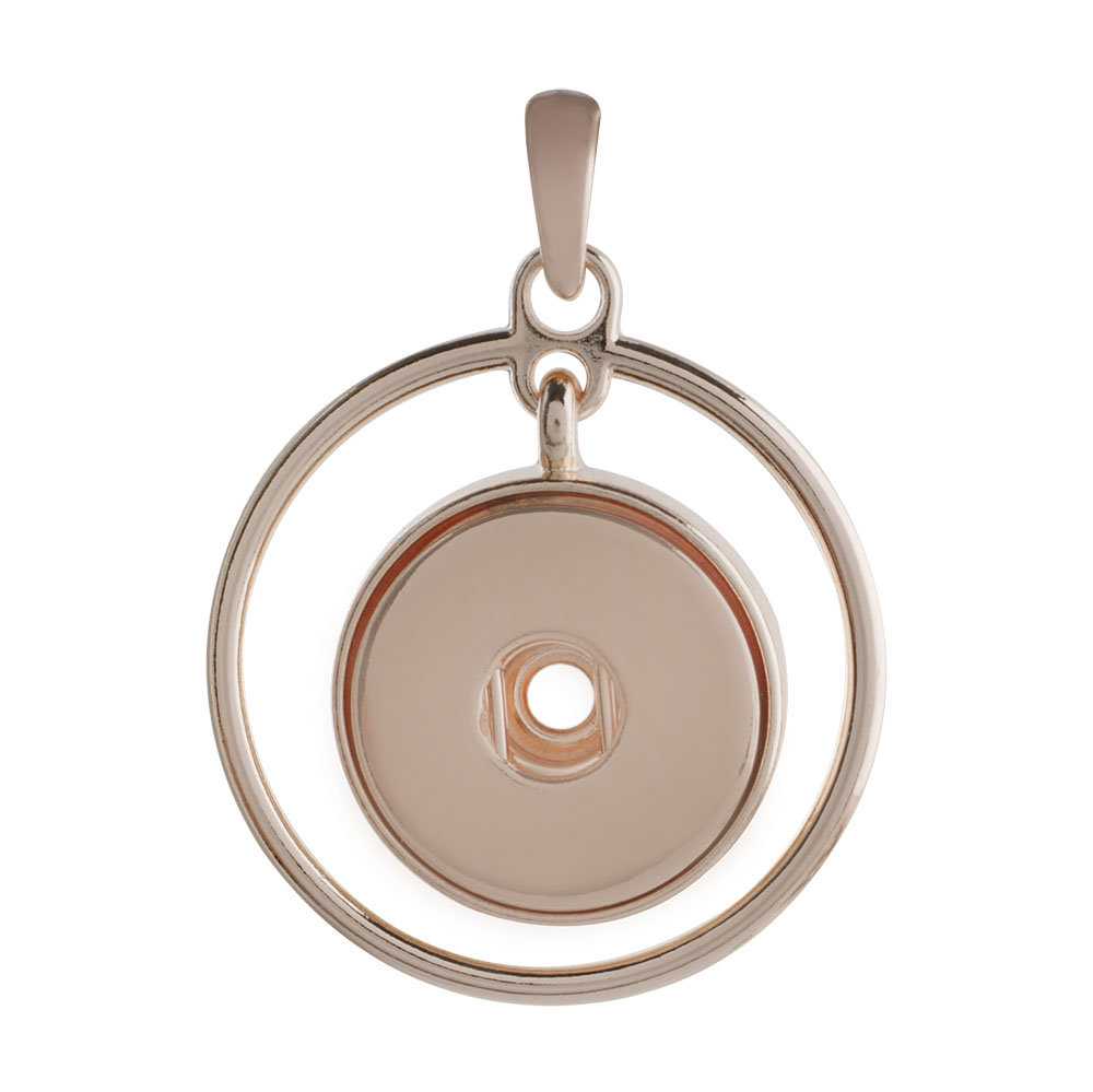2018 Rose Gold Sliver Color Pendants Alloy photo frame Lockets Pendants snap button Necklace fit 18mm 20mm snaps Jewelry