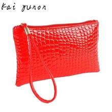 2017 Best Fahion Solid Handbag Womens Crocodile PU Leather Clutch ladies Handbag Bag Coin Purse Crocodile purse Clutch A 15