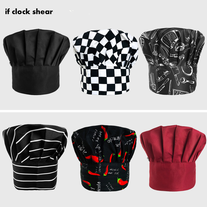 High Quality Hot Sale Chef Hats Cafe Bar Waiter Beret Restaurant Kitchen Workwear Baking Caps Men Women Breathable Forward Caps