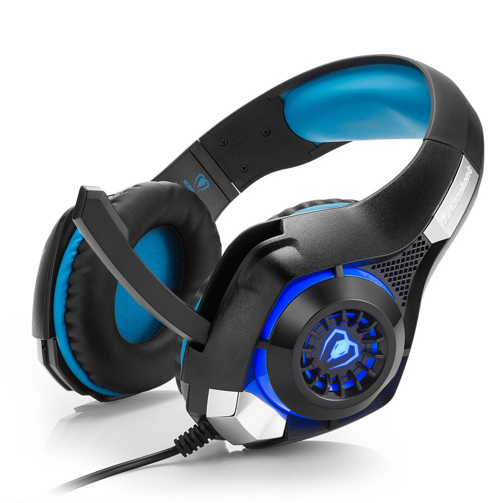 Beexcellent GM-1 Stereo Gaming Headset 2.1m Cable LED Light Bass Over-ear Headphones With Mic For Computer Game best computer gaming headphone headset over ear game headphones stereo deep bass led light with mic for computer pc