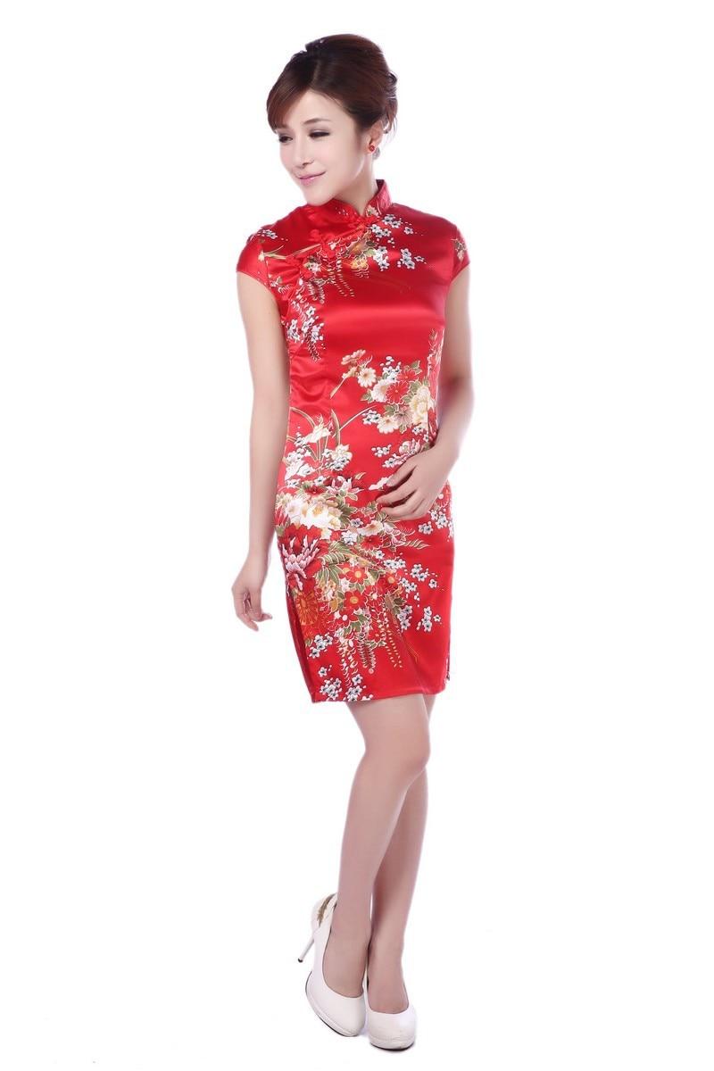 ᑐMujeres vestidos vintage qipao cheongsam floral sexy vestido chino ...