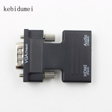Kebidumei HDMI Male Female Ke Vfa Konverter dengan Audio USB Mendukung 1080 P Output Sinyal Converter + Audio Kabel L3FE(China)