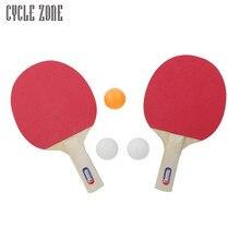 Raqueta de Ping-Pong Tenis de Mesa y Rejilla portátil Fijó Dos Lados Esponja De Mango Largo para Niños Principiantes Regalos Ligero Dec20