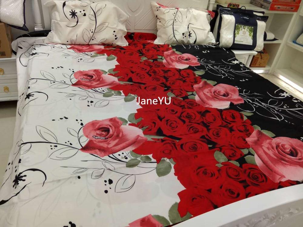 Janeyu Literie Home Textiles 4 Pcs Literie Fixe Jogo De Cama King