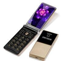 Dual Display 2.8 Handwriting Flip Cover Senior Mobile Phone Extra Slim Light Big Russian Key Black List Cheap Price Two Sim FM