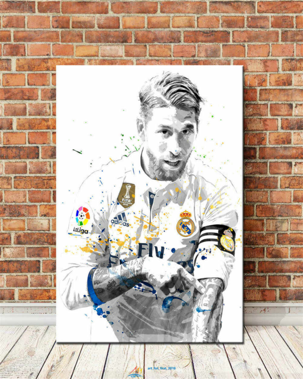 Sergio Ramos 1P Paintings Print on Canvas HD Abstract Canvas Painting Office Wall Art Home Decor Wall Pictures