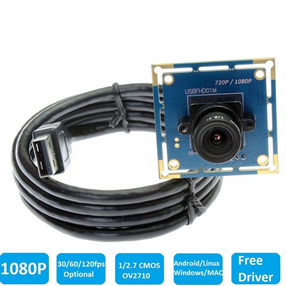 1080 P USB2.0 CCTV Caméra Module CMOS OV2710 haute vitesse 30fps/60fps/120fps UVC Driverless Mini PCB Conseil pour robot Machine Vision