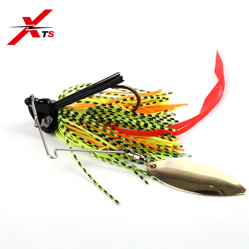 XTS Buzzbait Fishing Lure 18g 14.5g 11g Wobblers Spinner Baits Rubber Jig 3 Colors Rotating Sequins Fishing Tackle Lure 3016B