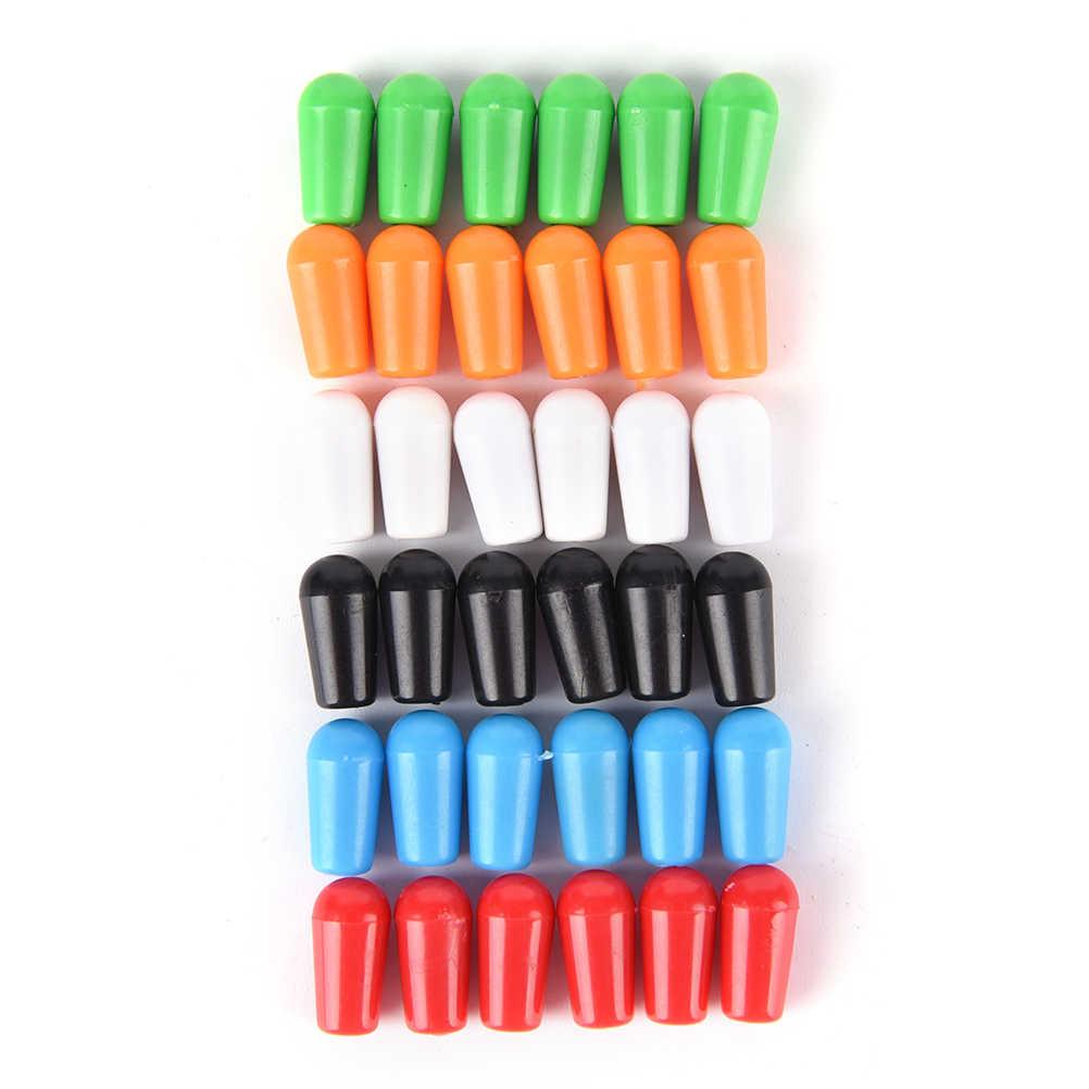 Замена 3,5 мм пластиковый переключатель, наконечник колпачки для регулятора для электрогитары 6 шт