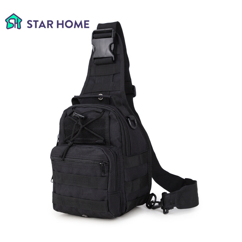 STARHOME Outdoor Tactical Bag Waterproof Camping Chest Bag Climbing Hiking Nylon Camouflage Camping Bag