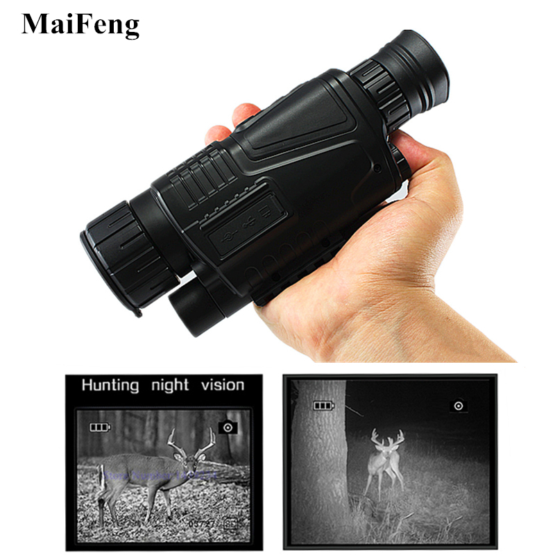 Powerful Hunting Camera Night Vision Monocular Professional Infrared Hunting Telescope Digital telescope with 8GB memory card