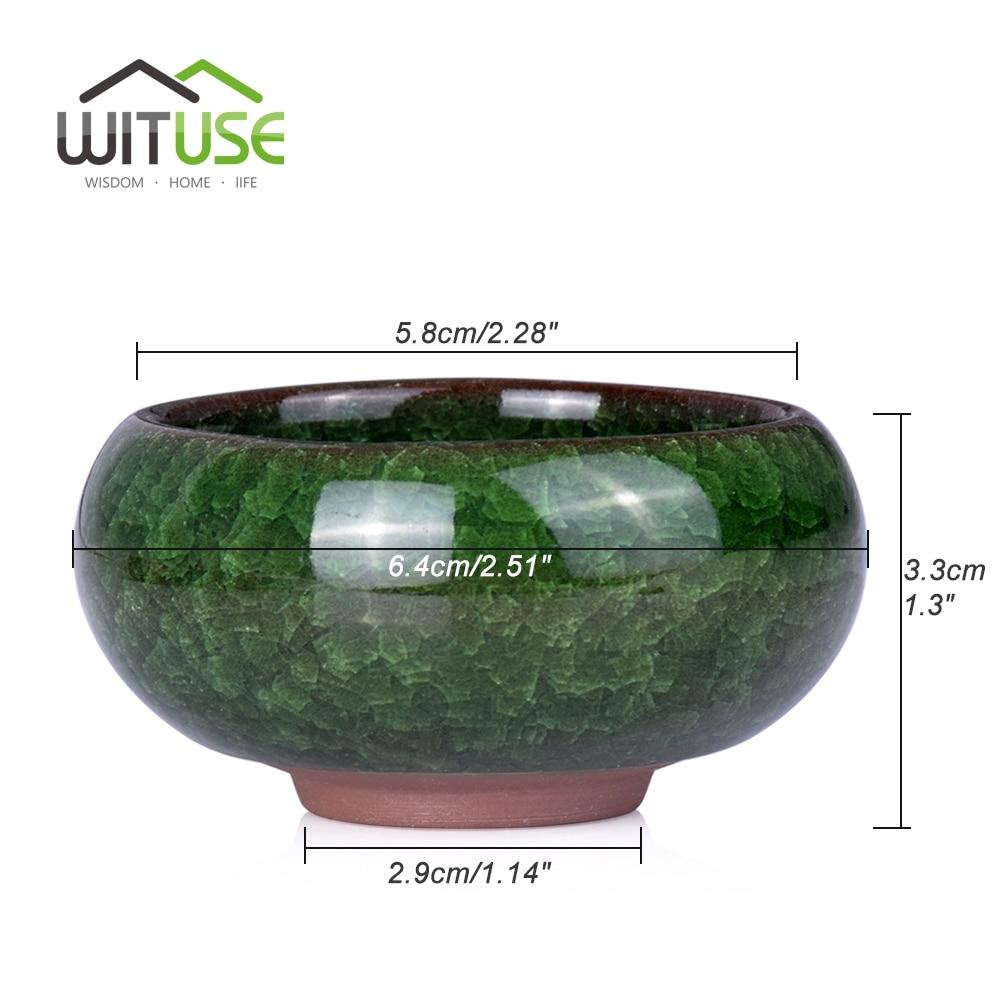 Image 2 - WITUSE 6 Colors Bonsai Pots Ceramic Planter Flower Pot Glazed Mini Flowerpot Garden Ceramica De Fleur Plant Pot For Home Office-in Flower Pots & Planters from Home & Garden