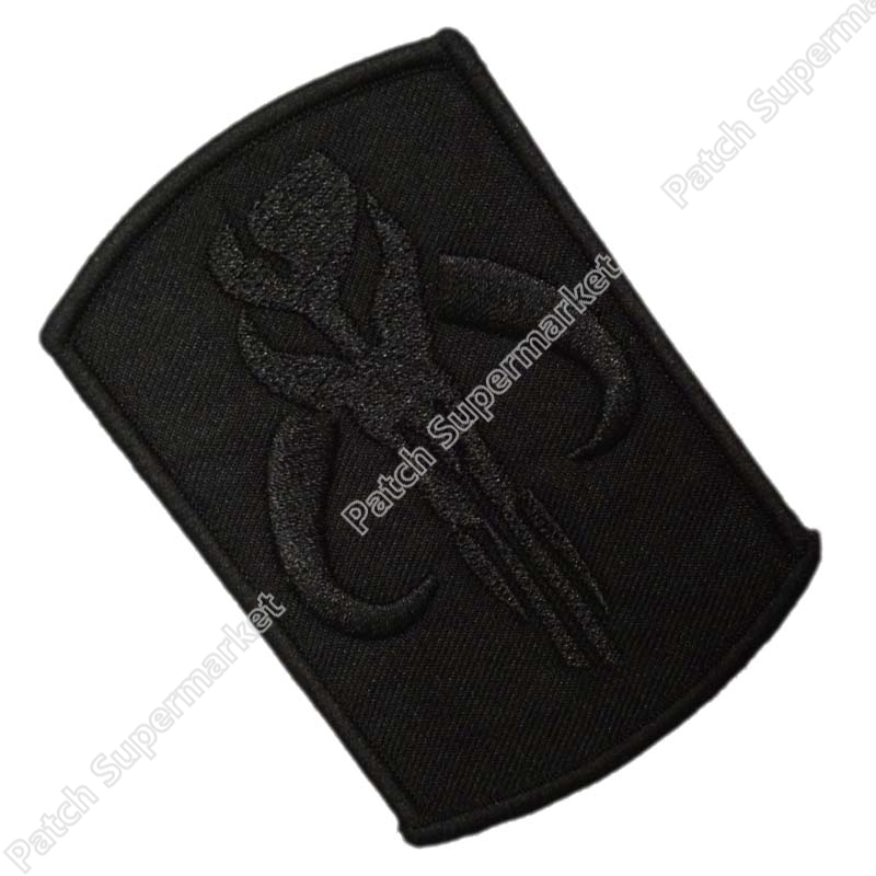 Black Star Wars BOUNTY HUNTER Patch Boba Fett Mandalorian Bantha TV Movie Series Uniform applique Embroidered