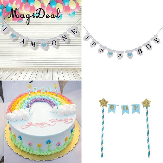 Magideal Its A Boy Bannerboy Star Cake Topper Cake Centerpieces