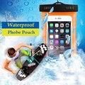 10 pçs/lote à prova d' água bag bolsa caixa do telefone para apple iphone 6 6 s 7 plus 5S se para samsung s6 edge s7 edge s5 j5 j7 2016 p8 saco