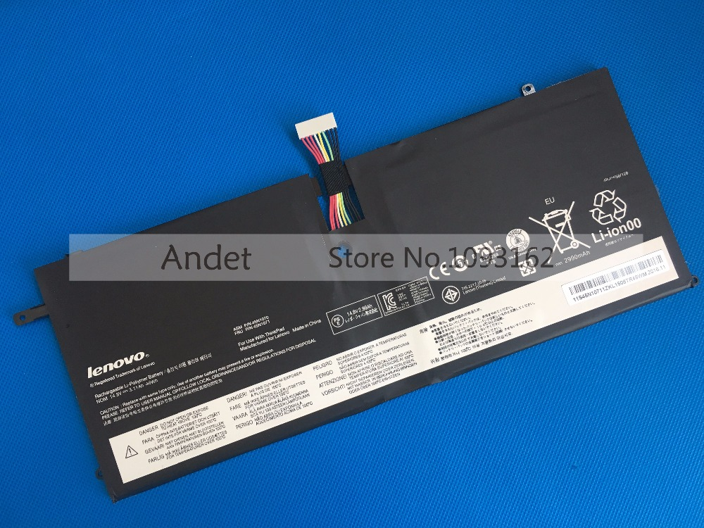 New Original 14.8V 46Wh Laptop Battery for Lenovo ThinkPad X1 Carbon Gen 1 3444 3448 3460 45N1070 45N1071 20v 4 5a 90w adlx90ndc2a 36200285 45n0243 45n0244 laptop ac adapter for lenovo thinkpad x1 carbon series touch ultrabook