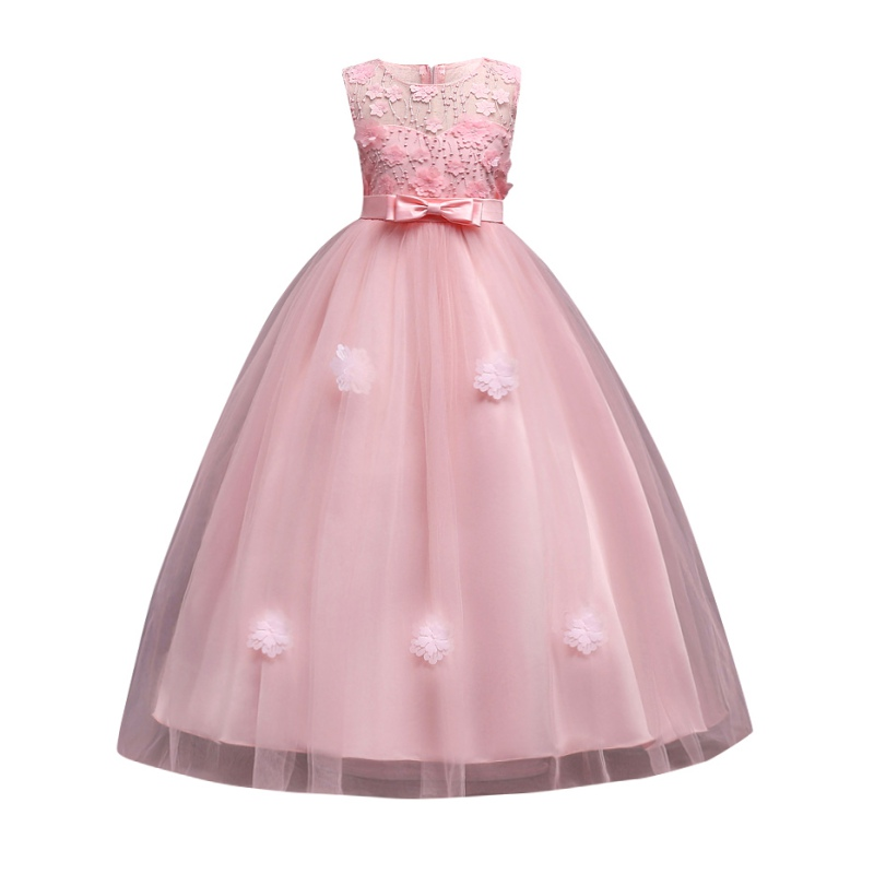 New Toddler Baby Girl Kid Christmas Party Casual Cartoon Bow Princess Dress Gown