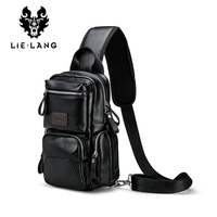 LIELANG Crossbody Bags For Men Messenger Chest Bag Pack Casual Bag Waterproof Nylon Single Shoulder Strap