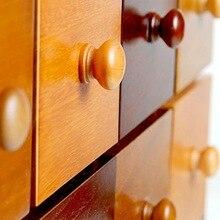 Urijk 10 шт./упак. ручки натуральная деревянная ручка для шкафа Дверные Ручки Потяните кухонную ручку мебель фурнитура круглые грибки