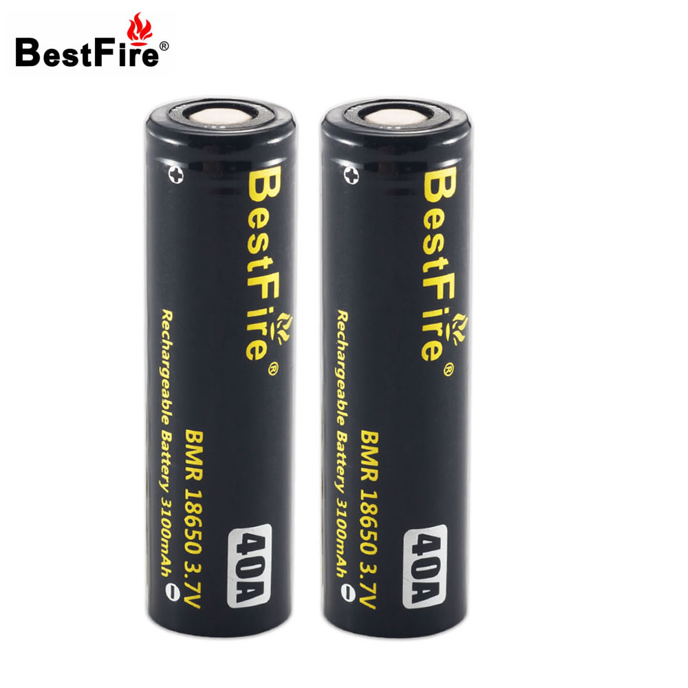 Bestfire 18650 Rechargeable Battery High Capacity 3100mAh 3.7V 40A Li-ion Battery for E-Cigarette/LED Flashlight/Toy