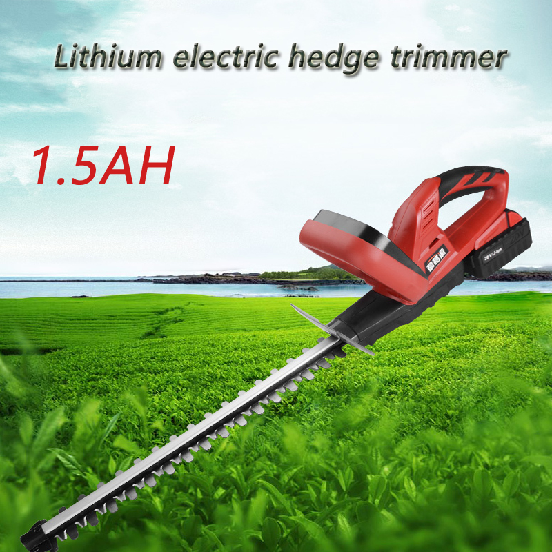 1.5AH Li ion battery cordless Electric hedge trimmer Pruning Machine Garden Tools Hedgerow Machine Pruning Shears grass trimmer