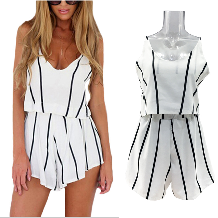 Striped White Crop Top Suit Set 2019 Women Tracksuit Two-piece Sport Style Outfit Jogging Sweatshirt Fitness Lounge Sportwear