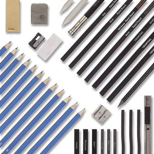 Image 3 - 40 Piece Drawing Pencils and Sketch Set in Pop Up Zipper Case   Includes Graphite, Pastel and Charcoal Pencils and Accessories