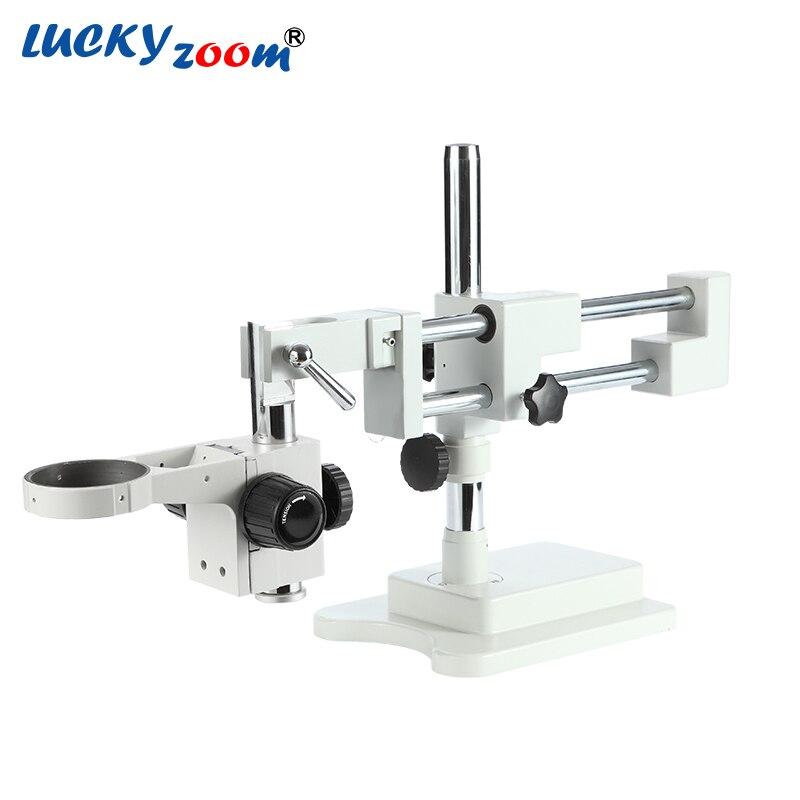 Luckyzoom Forte Flexible Trinoculaire Double Bras Base Pour Stéréo Zoom Microscope L'étape A1 Microscopio Accessoires Livraison Gratuite