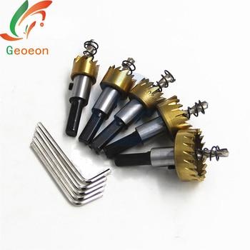 10pcs/set Carbide Tip HSS Drill Bit Saw Set Metal Wood Drilling Hole Cut Tool for Installing Locks 16/18.5/20/25/30mm A21 cutting tool