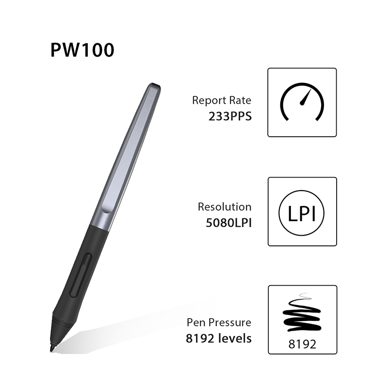 Huion Battery-free Pen For H640P/H950P/H1060P/H610PRO V2--PW100