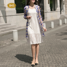new arrival 100% silk female shirts women pure silk dress long windbreaker sun proof clothing sleeved silk collar in mesh-b215
