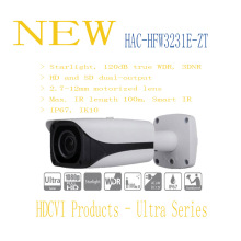 DAHUA Security Camera CCTV 2MP FULL HD Starlight HDCVI IR Bullet Camera IP67 IK10 Without Logo HAC-HFW3231E-ZT