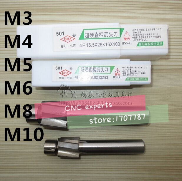 Lot 1pcs HSS Counterbore Cutter Endmills M10 Counterbore Mills Bits Cheaper