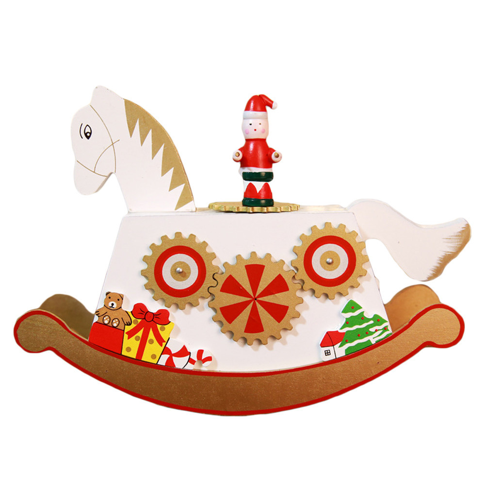 Creative Christmas Wooden Music Box Gift Christmas Sleigh Desktop Decoration Xmas Christmas Supplies Home Party Ornament #ss For Fast Shipping Diamond