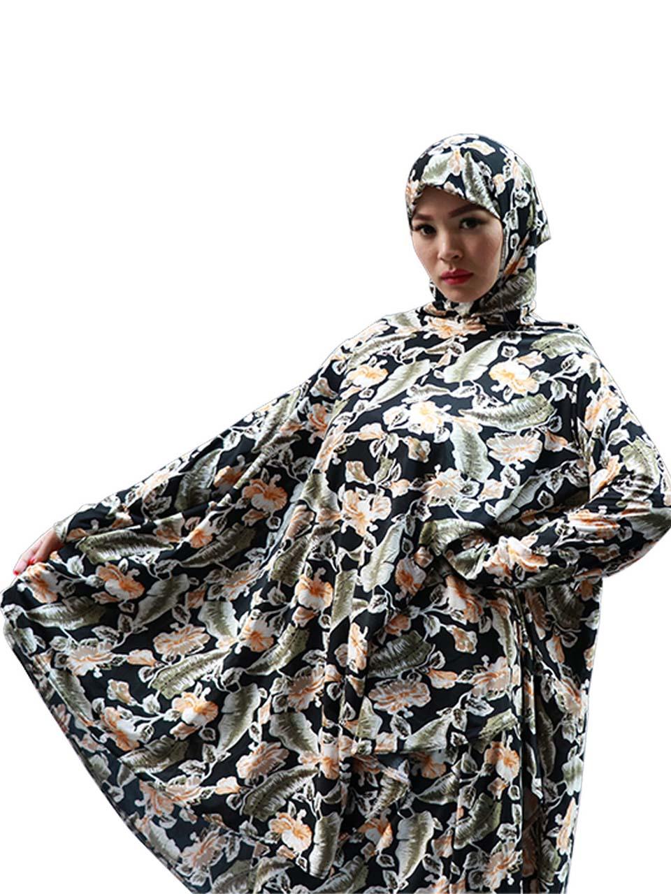 Muslim dress printing two-piece multi-color robes arabic long casual women's islamic clothing muslim women abaya dress kaftan