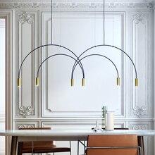 Nordic современный золото светодио дный подвесные светильники Спальня Столовая Кухня hanglampen voor eetkamer E27 светодио дный лампа Эдисон лампочка