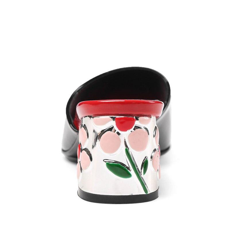 À dousha En Les Apricot Vache 2018 Carré Talons Toutes 34 Pu Taille Nesimoo Sélections Hauts 43 Casual Sandales Mode noir Chaussures Femmes Cuir EBqvvgn6