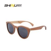 100% Handmade Skateboard Wood Sunglasses Women Fashion Brand Designer Round Summer Eyewear Polarized Driving Glasses Shade68048