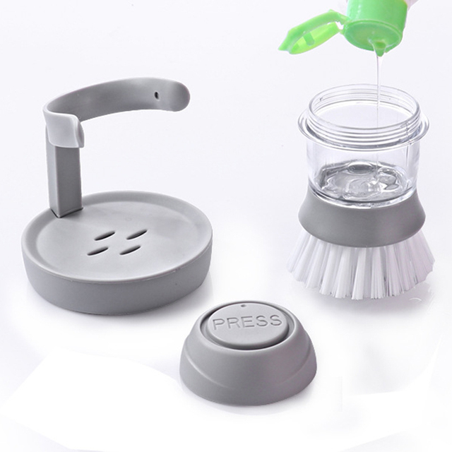 Cleaning Brushes Dish washing tool Soap Dispenser Refillable pans cups bread Bowl scrubber kitchen goods accessories gadgets 1