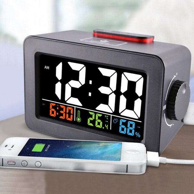 Idee Cadeau Bureau.13 44 45 De Reduction Idee Cadeau Chevet Reveil Digital Reveil Avec Thermometre Hygrometre Humidite Temperature Table Bureau Horloge Telephone