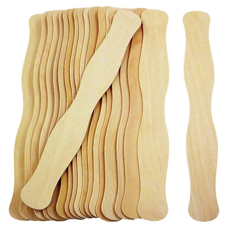 200x Jumbo 8 дюймов фруктовое мороженое, длинные деревянные и волнистые навальные шприцы для языка, палочки для рисования, палочки для рукоделия, цвет дерева - Цвет: Yellow