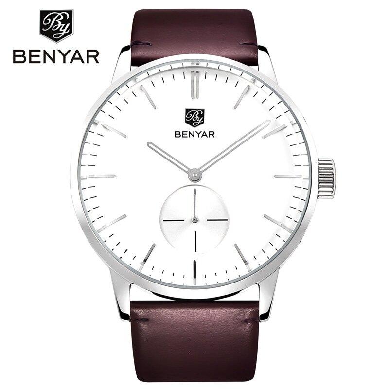 Benyar 2017 Fashion Quartz Watch Men Watches Top Brand Luxury Male Clock Business Mens Wrist Watch