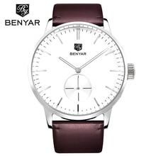 Benyar 2017 moda reloj de cuarzo hombres relojes de primeras marcas de lujo hombre reloj para hombre de negocios reloj de pulsera relogio masculino