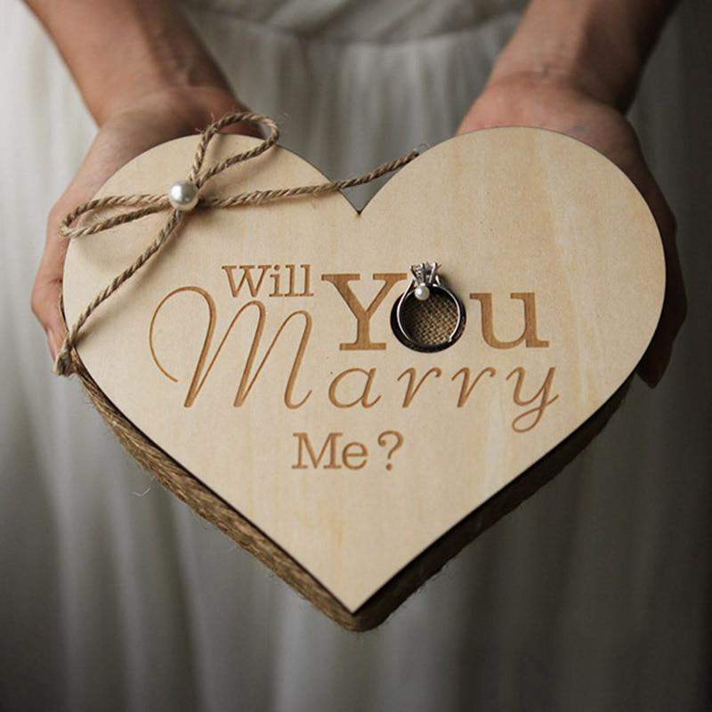 Handmade Wedding Ring Box Custom Name Letter Jewellery Box Boite A Bijoux Boite Cadeau Sieraden Doos Jewelry Boxes Ring Box