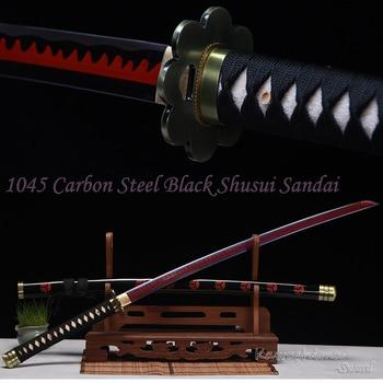 The Latest One Piece Zoro Sword Shusui Sandai High Carbon Steel Purple Red Blade Real Katana Handmade Full Tang Sharp Supply