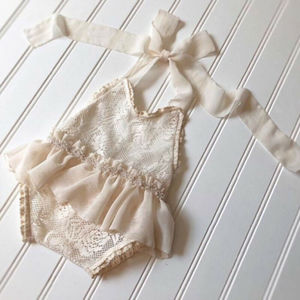 3-24M Newborn Baby Girl Lace Romper Dress Halter Romper Jumpsuit Outfits Clothes Summer Infant Baby Clothes(China)