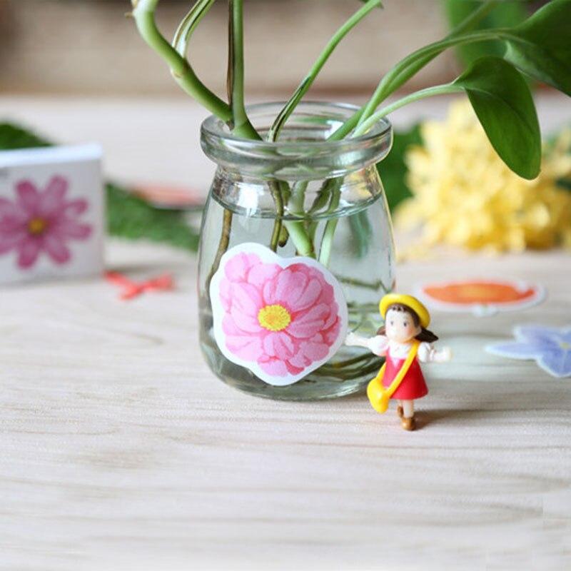 Купить с кэшбэком 45pcs/lot(1 bag) Korea creative DIY flower flower Sticker scrapbooking seal sticker kawaii stationery gift Free Shipping
