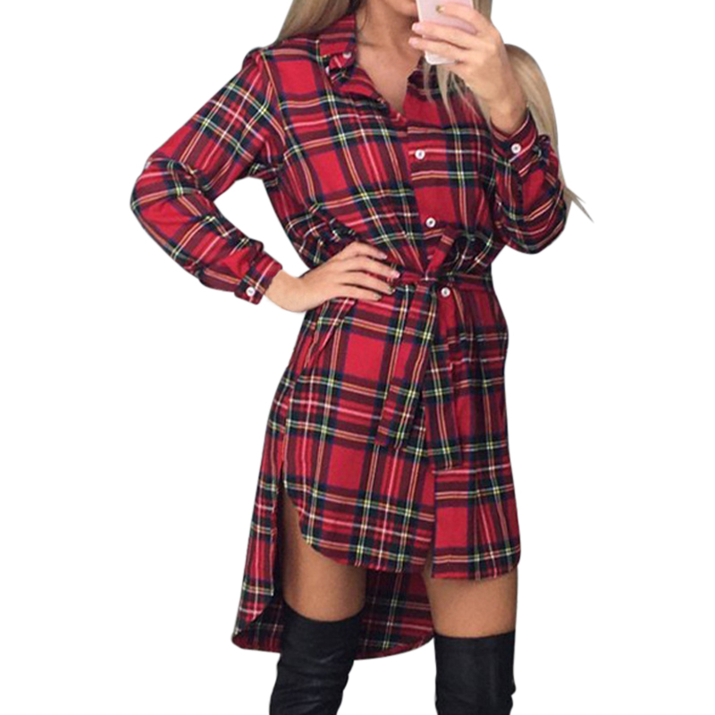 Online buy wholesale plaid shirt dress from china plaid for Buy plaid shirts online
