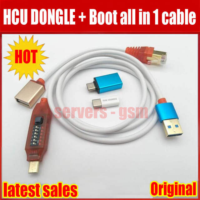 2019 Newest HCU Dongle + DC Phoenix Phone converter for Huawei with Micro  USB RJ45 Multifunction boot all in 1 cable